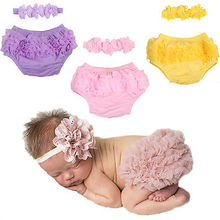 Newborn Toddler Baby Girls PP Pants bloomers Shorts Summer Kids Girl Cotton icing Short + Headband(China)