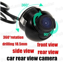 Newest drilling CCD Automotive Rear front side view Car Reverse Backup Parking camera 360 degree 18.5mm Rotation 170 wide angle(China)