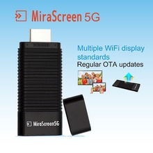 Mirascreen 5G Wireless HDMI Dongle OTA TV Stick Mirror Support WiFi DLNA Airplay EZCast 1080P Audio Video Display