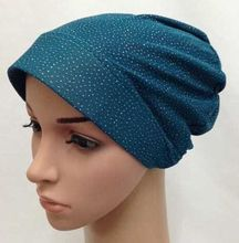 new islamic turban arab cap sequin muslim underscarf