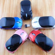 2.4Ghz optical mouse PC laptop computer accessories wireless mouse fashion super car shaped mouse(China)