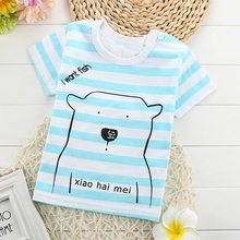Boys Girls Summer T-Shirt Infant Clothes Cotton Letter Animal Panda Print Kid Short Shirt Children Baby Shirt Clothes Tops&Tee