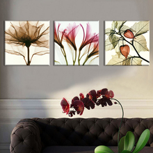 3 Panel Abstract Flower Modern Print Frameless Canvas Art Oil Painting Home Decoration Modular Picture for Living Room Wall