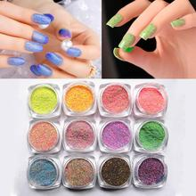 2017 Hot Selling Nail Art Glitter Powder Dust For UV GEL Acrylic Powder Decoration Tips 21 Colors for Choice