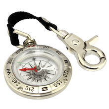 boussole, Outdoor Portable Multi-function Mini Metal Keychain Compass, Waterproof /Shockproof, Camping Hiking Survival Equipment