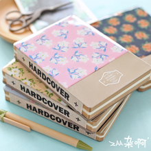 Mo Flowers Fine Epoxy Tinplate Cover Notebook Stationery Blank Sketch Book Thick School Supplies Stationery Cute Kawaii