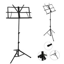 Folding Portable Metal Music Stand Holder Rack Sheet With Carrying Bag Tablature-universal guitar Instrument Part Accessories