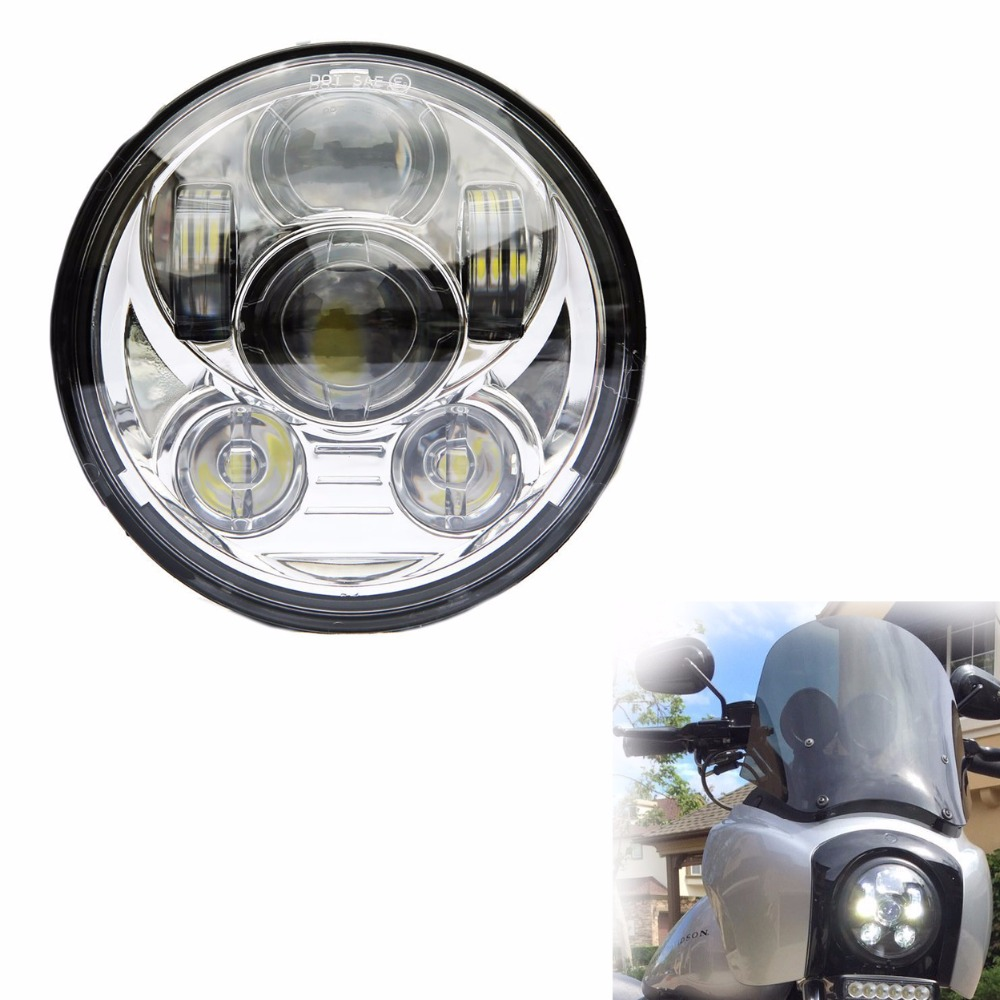 Promotion !  New Motos Accessories LED 5.75 head lamp motorcycle 5 3/4 led headlight for Harley Projector <br>