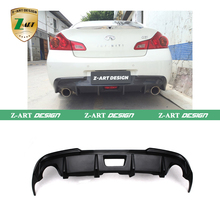 Z-ART FRP G37 Car Rear Bumper Lip Diffuser Fit for Infiniti G35 G37 Base Sedan journey sedan 4D 10-13 Not for usa market