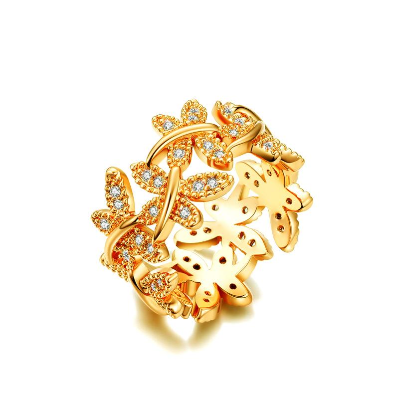 Queen's Olive Leaf Crown Rings