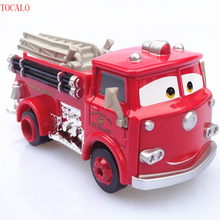10cm Pixar Cars 2 Red Firetruck Metal Diecast Toy Car