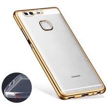 Luxury Gold Plating Crystal Soft TPU Case for Huawei GR3 P8 P9 Lite 2017 P10 Plus Nova Honor 9 8 Lite Pro 6A Silicone Case Cover