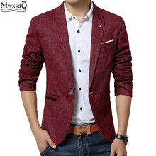 Mwxsd brand spring autumn men casual Blazer suit mens cotton suit Jacket slim fit Men's classic smart casual blazer for male