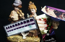 1 Set =  Nail Patch+Nail File +Purple + Full Nail Sticker Nail Decorations for Manicure