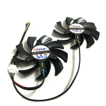 2pcs/lot RX 480/470 Graphics 4Pin 85mm fans 0.35A VGA Cooler Fan For XFX R9 390/390X 8G RX480 RX470 Video Card cooling