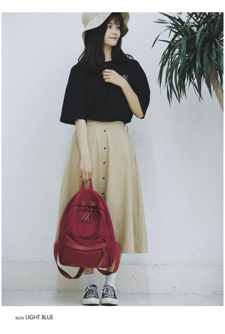 Menghuo High Quality Women Canvas Backpack Teenage Girls Leisure Backpack Bag Vintage Stylish Female School Bag Bookbag Mochilas (11)