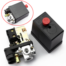 High Quality Durable Mayitr Air Compressor Pressure Switch 240V 16A 90 PSI -120 PSI Heavy Duty Red ON/OFF Switch Control Valve