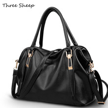 Vintage Tote Bags for Women Black PU Leather Handbag Brand High Quality Designer Hand Bags Shoulder Bag Grand Sac a Main