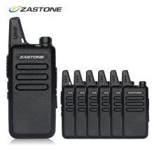 Wholesale 6pcs/lots Walkie Talkie Zastone ZT-X6 UHF 400-470mhz Frequency Mini Handheld Radio Transceiver Comunicador