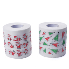 Novelty Funny Cute Santa Claus Elk Christmas Tree Toilet Roll Paper Tissue Living Bathroom Table Decor(China)
