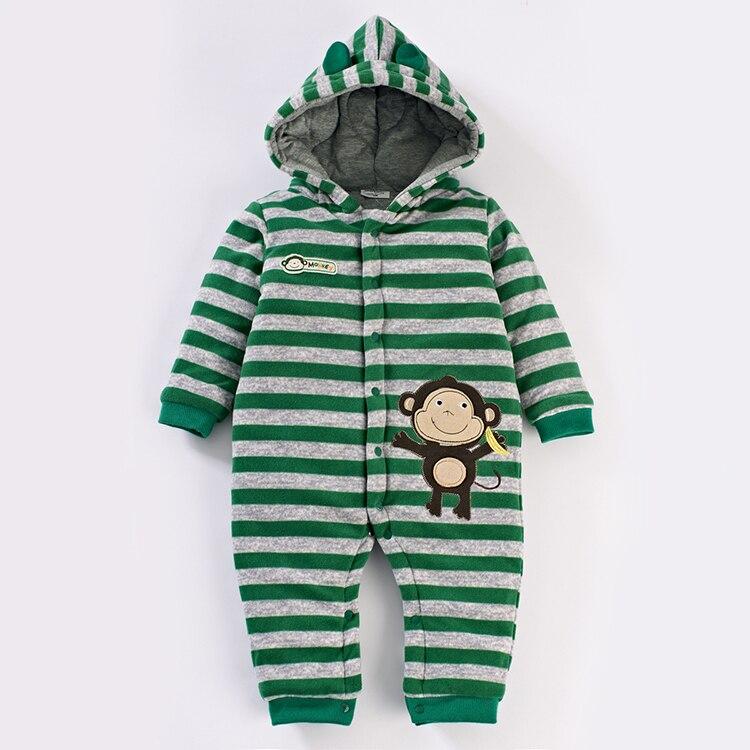 new 2015 autumn Winter romper baby clothing newborn baby boy striped cotton romper kids overalls baby wear<br>