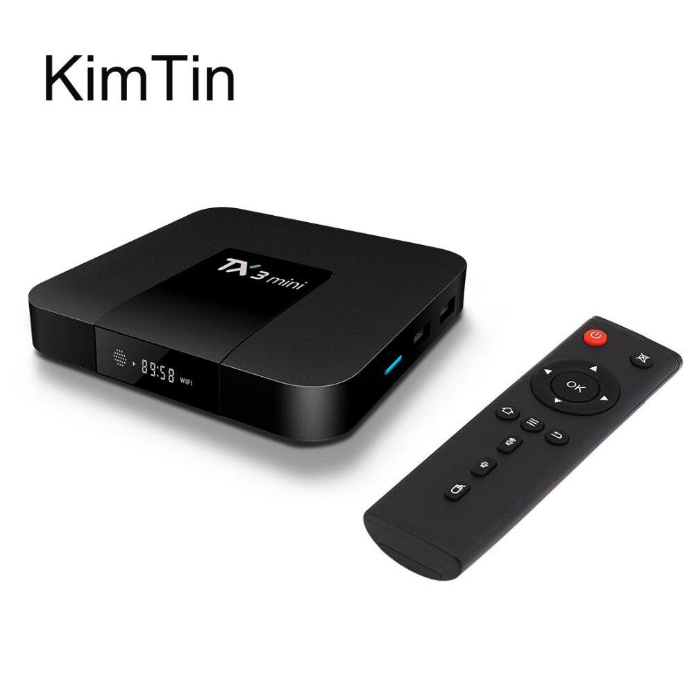 2017 KimTin Android 7.1 TV Box Ram 2G 1G Rom 16G Amlogic S905W Quad Core Media Player LAN WiFi DLNA Airplay KODI UHD 4K miracast<br>