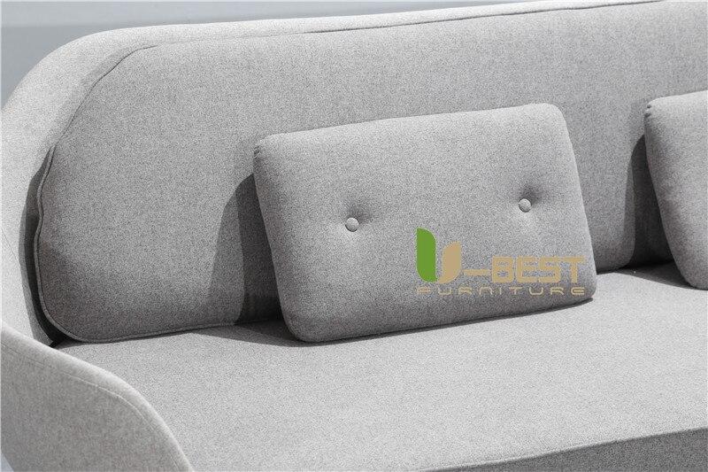 Nordic Simple Favn Sofa Coquille Sofa Multi Person Sofa 5