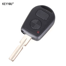 KEYYOU Remote Fob Case Replacement Car Key Shell 2 Buttons Key Case Cover Protection Fob for BMW E38 E39 E36 Z3 Interior Styling