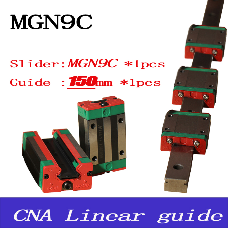 9mm Linear Guide MGN9 L= 150mm linear rail way + MGN9C Long linear carriage for CNC X Y Z Axis Free shipping<br><br>Aliexpress