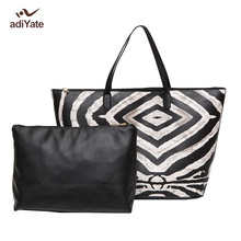 ADIYATE The Zebra Stripes Fashion Tote Bag All-Match Brief Picture Package Shoulder Bag Large Capacity Women's Handbag Cheap Big