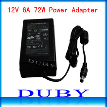 New Universial AC/For DC 12V 6A 72W Power Supply Charger Adaptor For LED Strip Light CCTV Camera Free Shipping(China)