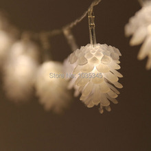 20LED 3.3M PineCone Shape Holiday Fairy String Lights Battery Operated on 10ft Long String Lights for Outdoor Indoor Xmas Party(China)