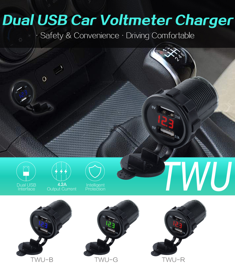 usb car charger with voltage 01