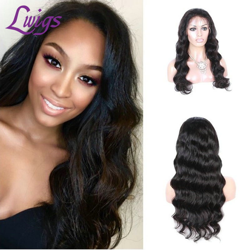 8A 100% Brazilian Virgin Human Hair Full Lace Body Wave Lace Front Wigs For Black Women Glueless Wigs with Baby Hair Free Part<br><br>Aliexpress