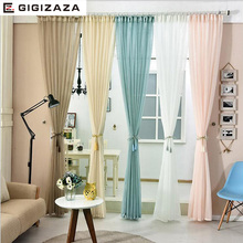 White tulle voile curtains for livingroom bedroom Japan voile custom drape transparent window sheer pull pleat tape pink