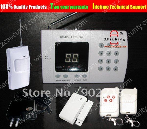 100%  quality products wireless 99 zone  home security landline auto dial alarm systems Free shipping<br>