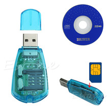 For SMS Backup GSM CDMA+CD High Speed USB Cellphone Standard SIM Card Reader Copy Cloner Writer