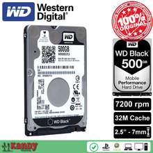Western Digital WD Black 500GB hdd 2.5 SATA disco duro laptop internal sabit hard disk drive interno hd notebook harddisk disque(China)