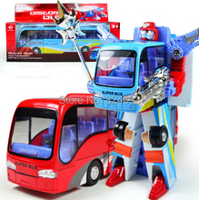1pcs Alloy deformation robot bus boys toys brinquedos meninos toy for children(China)