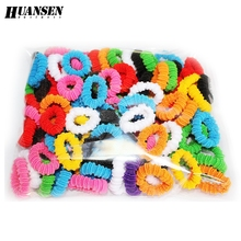 YWHUANSEN 100pcs/lot Best hair clips Cheap hair bows girls Scrunchy Beautiful hair accessories Nice hair bands Good hair rope