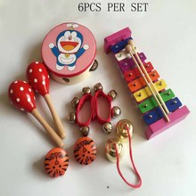 Kingtoy Boy and Girl Learning Wood Toy 5 types Orff instruments kit children preschool  musical toy instruments set