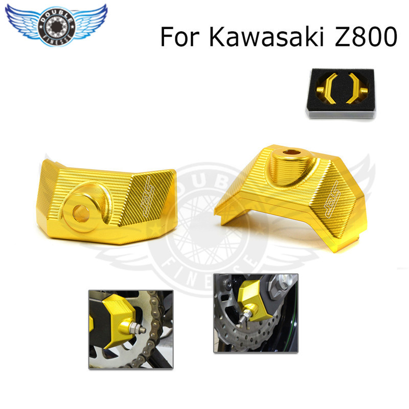 new 7 colors optional motorcycle parts golden color motorcycle rear fork spindle chain adjuster cnc aluminum for kawasakei z800<br><br>Aliexpress