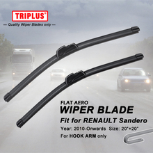"Wiper Blade for Renault Sandero (2010-Onwards) 1set 20""+20"", Flat Aero Beam Windscreen Wiper Blade Frameless Soft Wiper Blades"