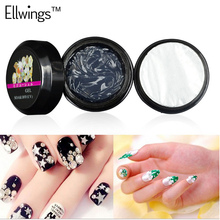 Ellwings Glitter Clear Transparent Glue Rhinestone UV Gel Nail Polish Adhesives Super Sticky Nail Varnish Decoration Tools(China)