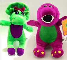 17CM 20CM Green Purple Dinosaur Barney Singing Plush Toys Soft Mini Toy For Baby Present Children Present have not Music Doll(China)