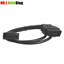 1.5m ELM327 OBD2 16Pin Extension Cable Extension Cable 16 Pin ELM327 OBD II OBD2 Extension Cable Connector