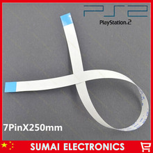 30pcs 7pin 250mm Power Switch Flex Cable Repair Part For PS2 30000 Controller