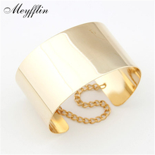 Fashion Punk Cuff Bracelets for Women Pulsera Gold Silver Wristband Charm Bracelets & Bangles Men Jewelry Pulseiras Mujer