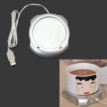 Portable Electric USB Powered Cup Mug Milk Tea Coffee Drinks Warmer Heater Tray Mat Pad Insulation Coaster Office Heating Device