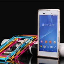 TX For Sony T3 capa fundas Alloy Bumper frame For Sony Xperia T3 Aluminum Bumper case + screwdriver + 1 Film(China)